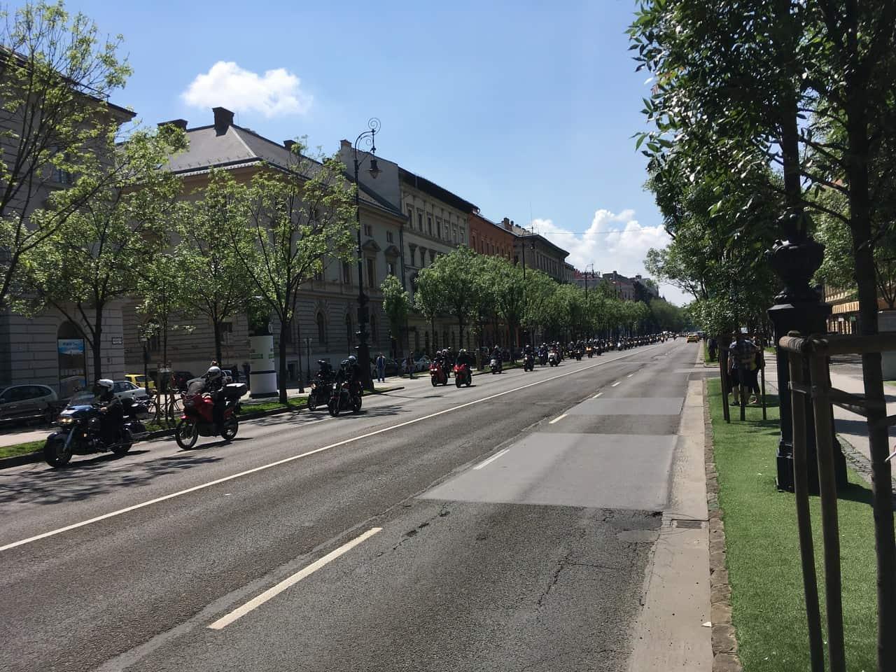Outside Budapest House of Terror