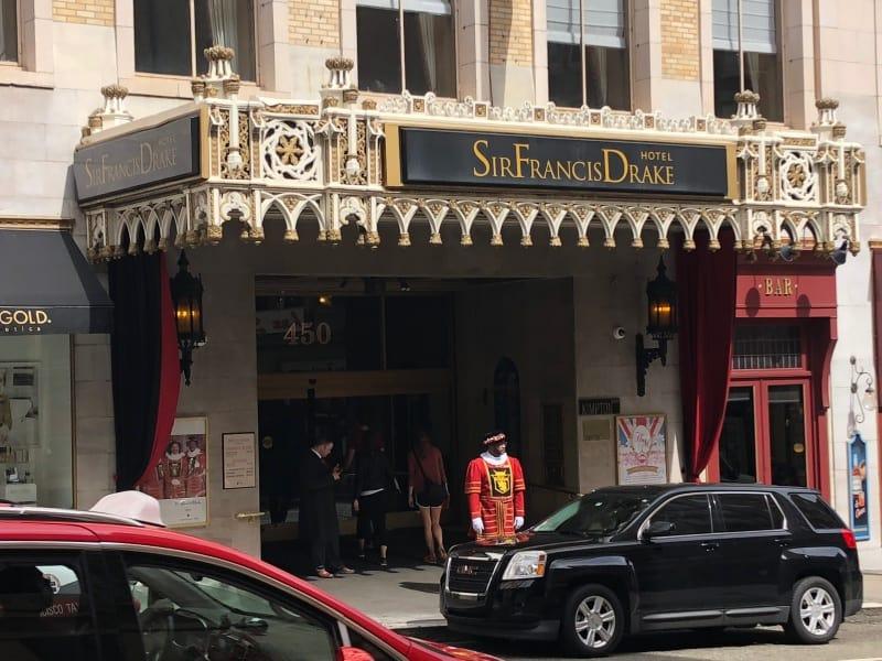 Kimpton Sir Francis Drake Hotel, Union Square, San Francisco - entrance