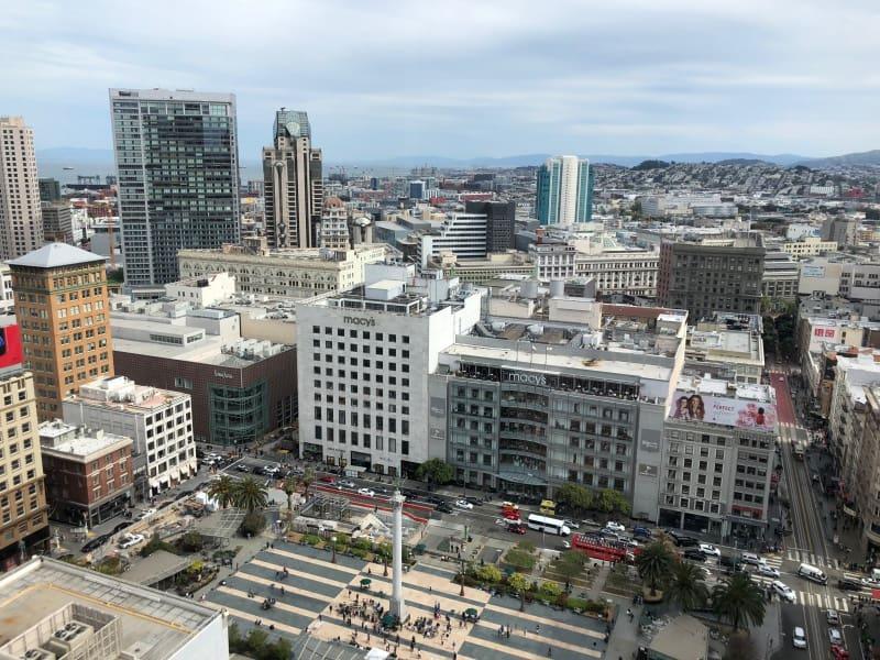 Kimpton Sir Francis Drake Hotel, Union Square, San Francisco - view