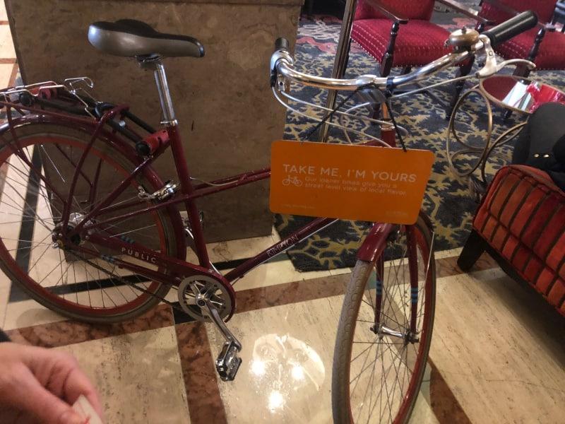 Kimpton Sir Francis Drake Hotel, Union Square, San Francisco - bike rental