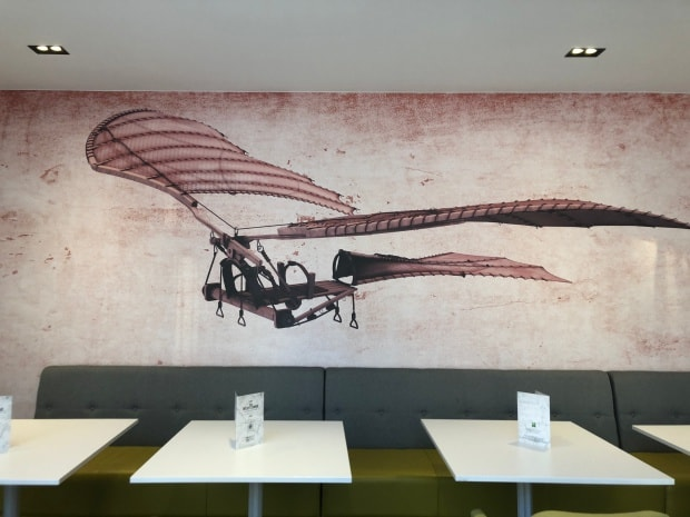 Ibis Styles Heathrow Airport Hotel - breakfast mural.