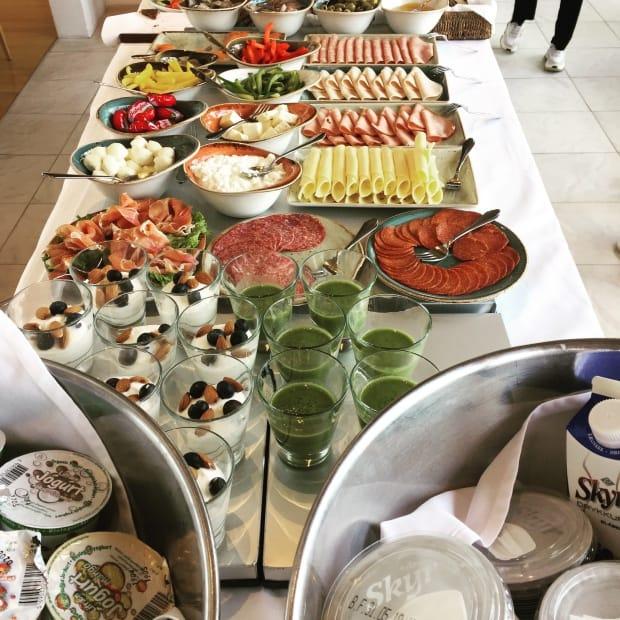 Silica Hotel Iceland - breakfast buffet.