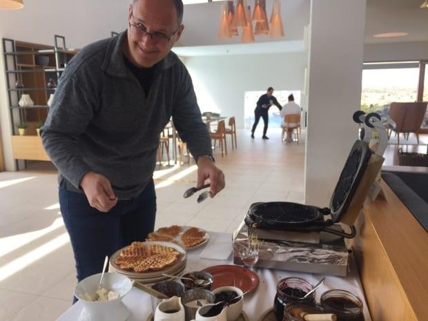 Silica Hotel Iceland - breakfast waffles.
