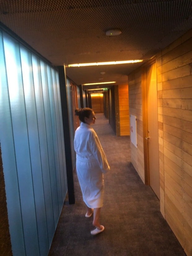 Silica Hotel Iceland - getting ready for private lagoon.