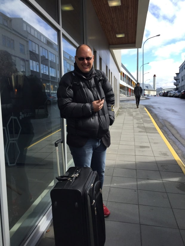 Reykjavik accommodation - Hotel Klettur entrance
