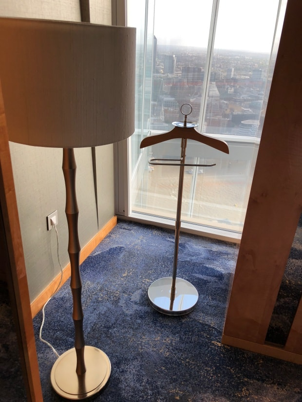 Shangri-la Hotel at The Shard London - coat rack.