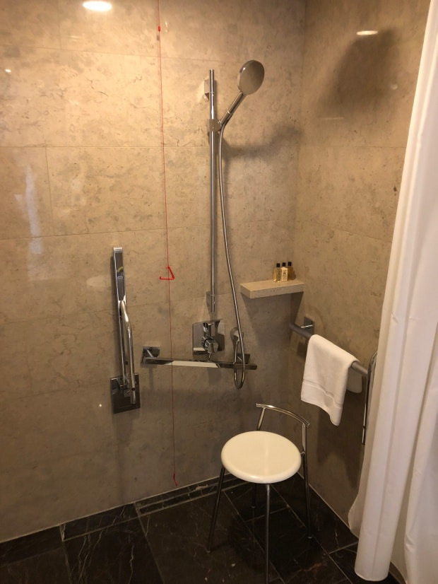 Shangri-la Hotel at The Shard London - accessible shower.
