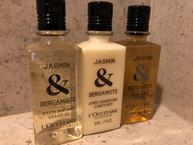 Shangri-la Hotel at The Shard London - L'Occitane toiletries.