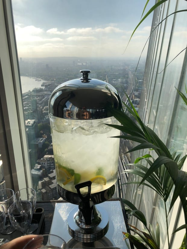 Shangri-la Hotel at The Shard London - Sky Pool 52nd floor, water station.