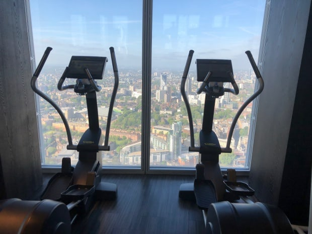 Shangri-la Hotel at The Shard London - Gymnasium 52nd floor.